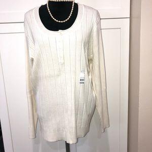 JMS Henley off white sweater
